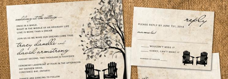 Hand-Illustrated Wedding Invitations